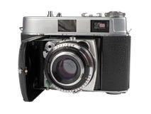 Old photo camera isolated on white Stock Photography