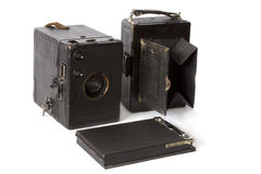 Old photo camera isolated on white Stock Photography