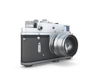Old photo camera isolated Royalty Free Stock Photography