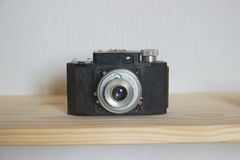 Old photo camera objective with low depth of field Royalty Free Stock Image