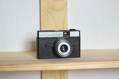 Old photo camera objective with low depth of field Stock Image