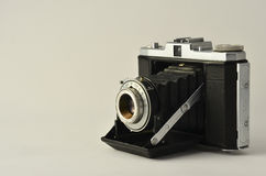 Old photo camera, second hand by film Royalty Free Stock Images