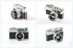 Old photo camera set isolated on white background. Royalty Free Stock Image