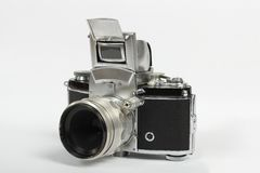 Old photo camera on white background Royalty Free Stock Photo