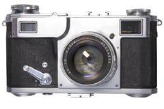 Old photo camera on white background Stock Image