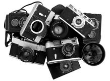 Old photo cameras Stock Photo