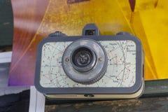 Old photo cameras stock photo