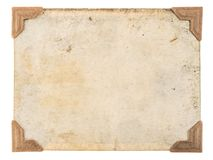 Old photo card corners frame isolated white background. Old photo card with corners isolated on white background. Retro style photo frame stock image