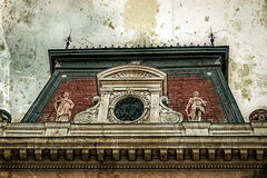 Old photo with facade on classical building. Belgrade, Serbia 2 Royalty Free Stock Images