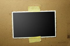 Old photo frame. An old photo frame background Stock Photos