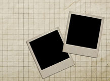 Old photo frame against the background of old paper Royalty Free Stock Photography