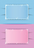 Old photo frame for boys or girls Royalty Free Stock Photo