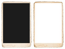 Old photo frame with edges. Mockup for your pictures Royalty Free Stock Images