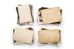 Collection of various old photos on white background. each one is shot separately royalty free stock image