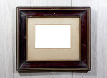 Old photo frame on the wall Royalty Free Stock Photo