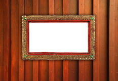 Old photo frame on the wooden Royalty Free Stock Image