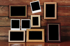 Old photo frames Stock Photography
