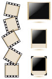 Old photo frames collection. Vector illustration Stock Photos