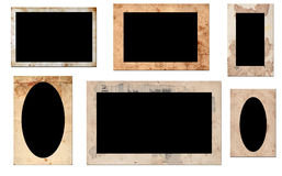 Old photo frames Stock Photos