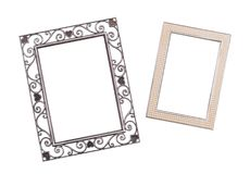 Old photo frames royalty free stock image