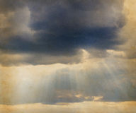Old photo with heavy clouds. Old photo with heavy  clouds Royalty Free Stock Photos