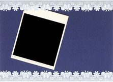 Old photo and lacy border Stock Image