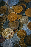 Old photo with old coins 2 Stock Images