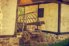 Old photo at one romanian farmhouse exterior Royalty Free Stock Image