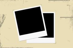 Old photo paper. Polaroid paper in old album Royalty Free Stock Photography