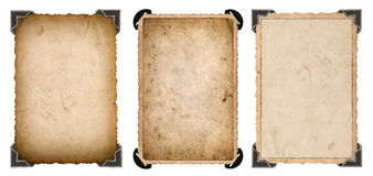 Old photo paper card with corner and edges Vintage frame Stock Images