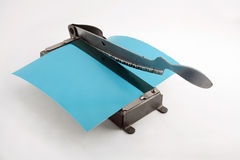 Old photo paper cutter Royalty Free Stock Images