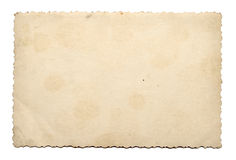 Old photo paper texture. On white background Royalty Free Stock Photos