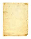 Old photo paper texture isolated Royalty Free Stock Photos