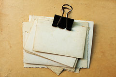 Old Photo Papers Royalty Free Stock Photography