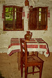 Old photo with Romanian traditional home interior 3 Stock Images
