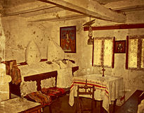 Old photo with Romanian traditional home interior 8 Stock Images