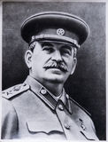 Old photo of Stalin. Old black and white photo of Joseph Stalin from family album Stock Photo