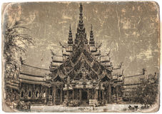 Old photo of a temple Stock Image