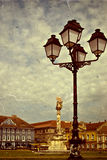 Old photo with Union Square in Timisoara Stock Images