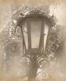 Old photo with vintage lamp Stock Image