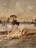 Old photo of wagon or cart Stock Images