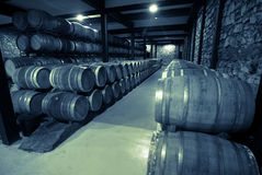 Old photo of  wine cellar Royalty Free Stock Image