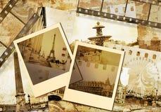 Old photoalbum. Old photo album series - Paris Stock Images