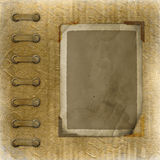 Old photoalbum with grunge frame Royalty Free Stock Image