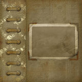 Old photoalbum with grunge frame for photos Royalty Free Stock Images