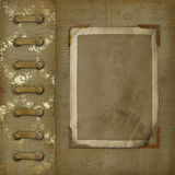 Old photoalbum with grunge frame for photos Stock Image
