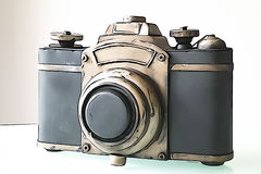 Old photocamera Stock Image