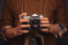 Old photocamera Stock Image