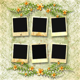 Old photoframes Royalty Free Stock Photos