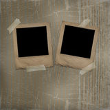 Old photoframes are hanging Royalty Free Stock Photo